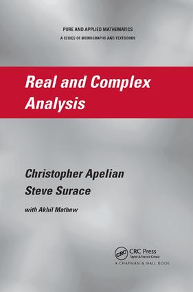 Real and Complex Analysis: 1st Edition (Paperback) book cover