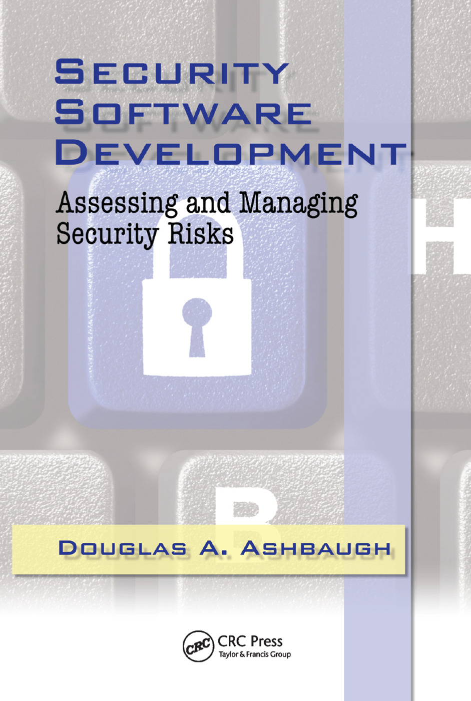 Security Software Development: Assessing and Managing Security Risks, 1st Edition (Paperback) book cover