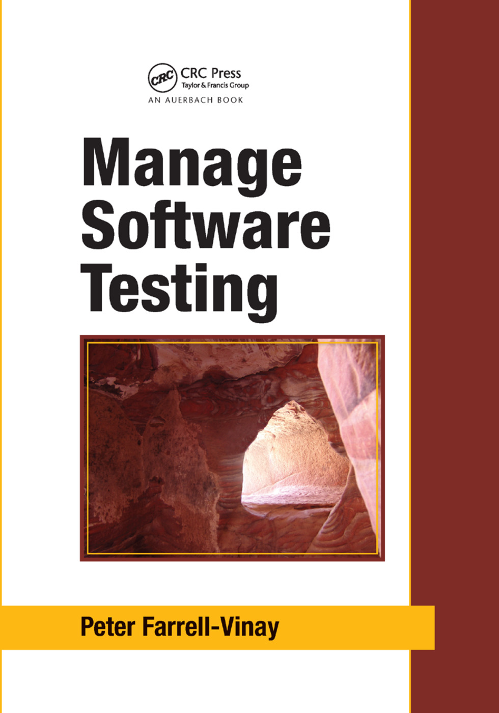 Manage Software Testing: 1st Edition (Paperback) book cover