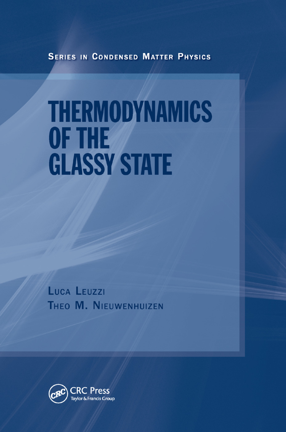 Thermodynamics of the Glassy State: 1st Edition (Paperback) book cover