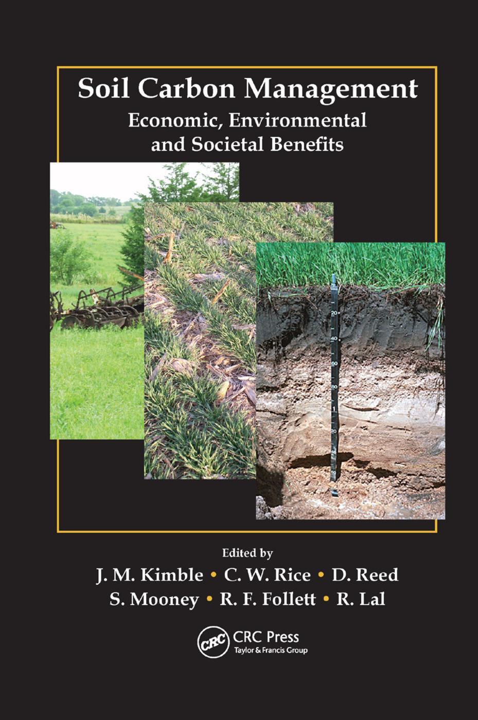 Soil Carbon Management: Economic, Environmental and Societal Benefits, 1st Edition (Paperback) book cover