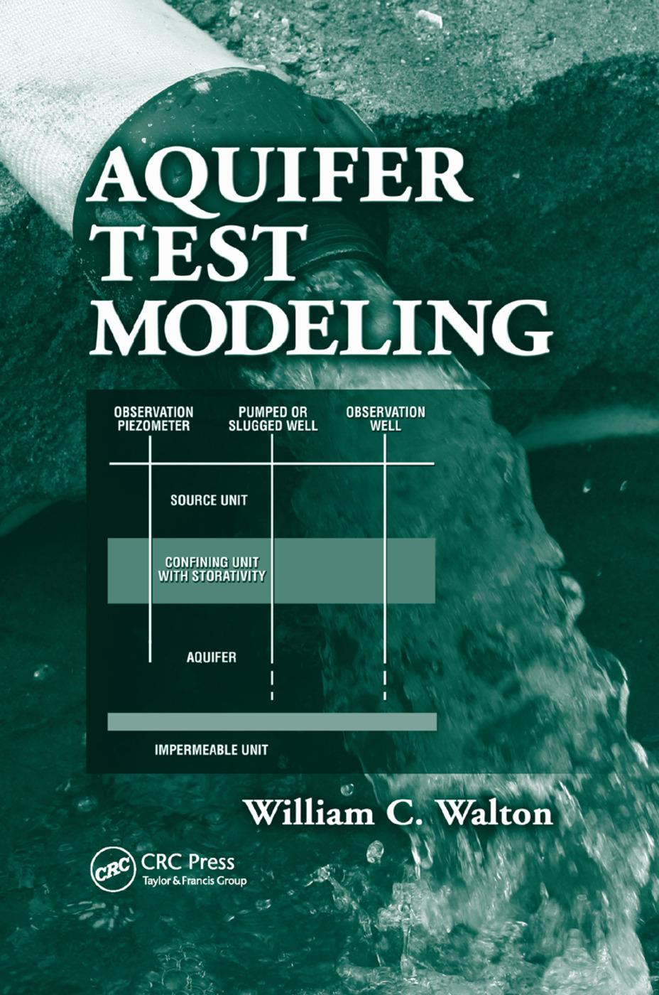 Aquifer Test Modeling: 1st Edition (Paperback) book cover