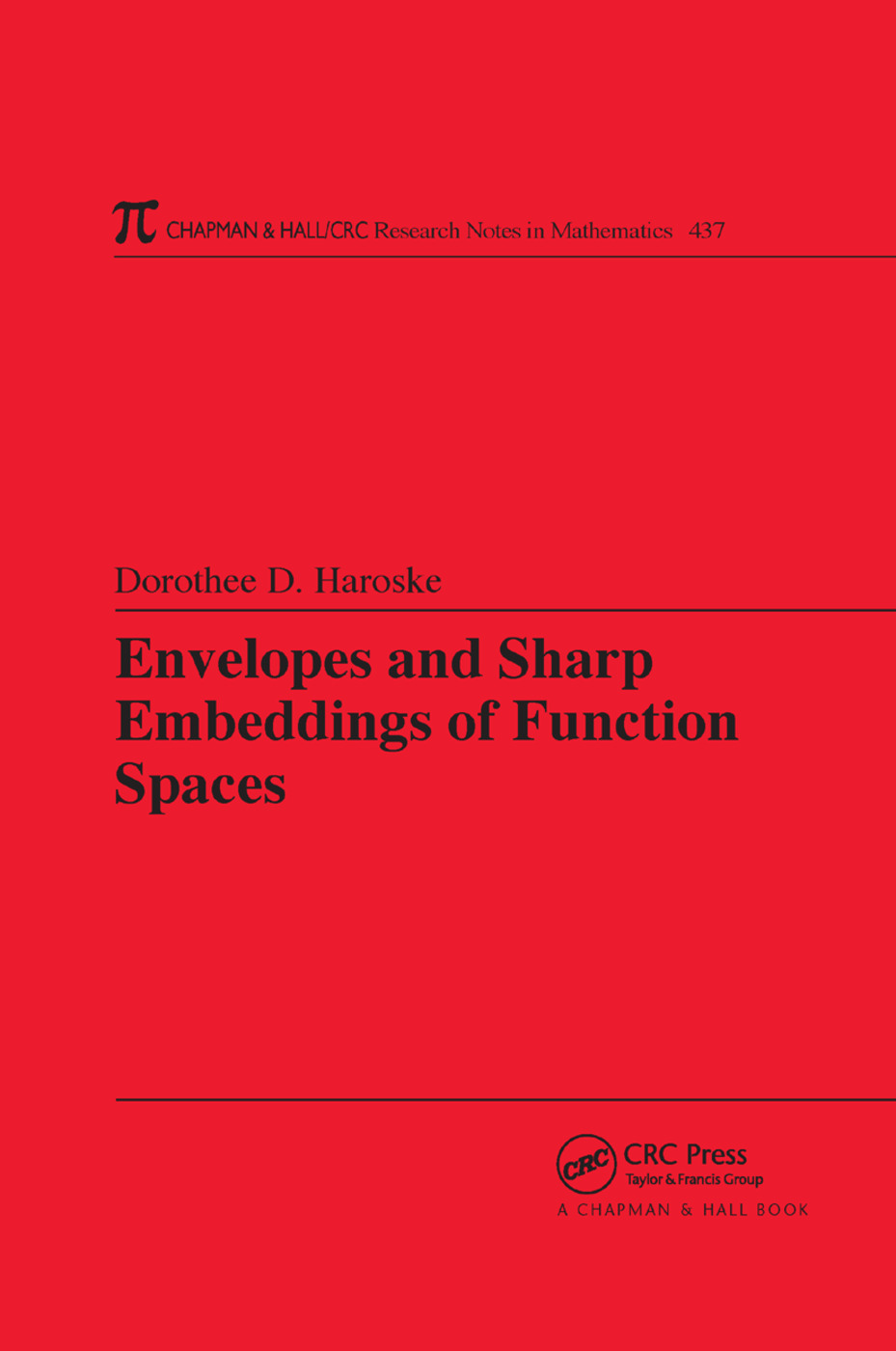Envelopes and Sharp Embeddings of Function Spaces: 1st Edition (Paperback) book cover