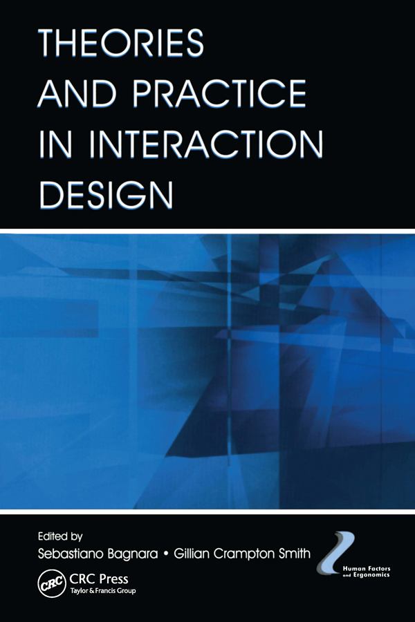 Theories and Practice in Interaction Design: 1st Edition (Paperback) book cover