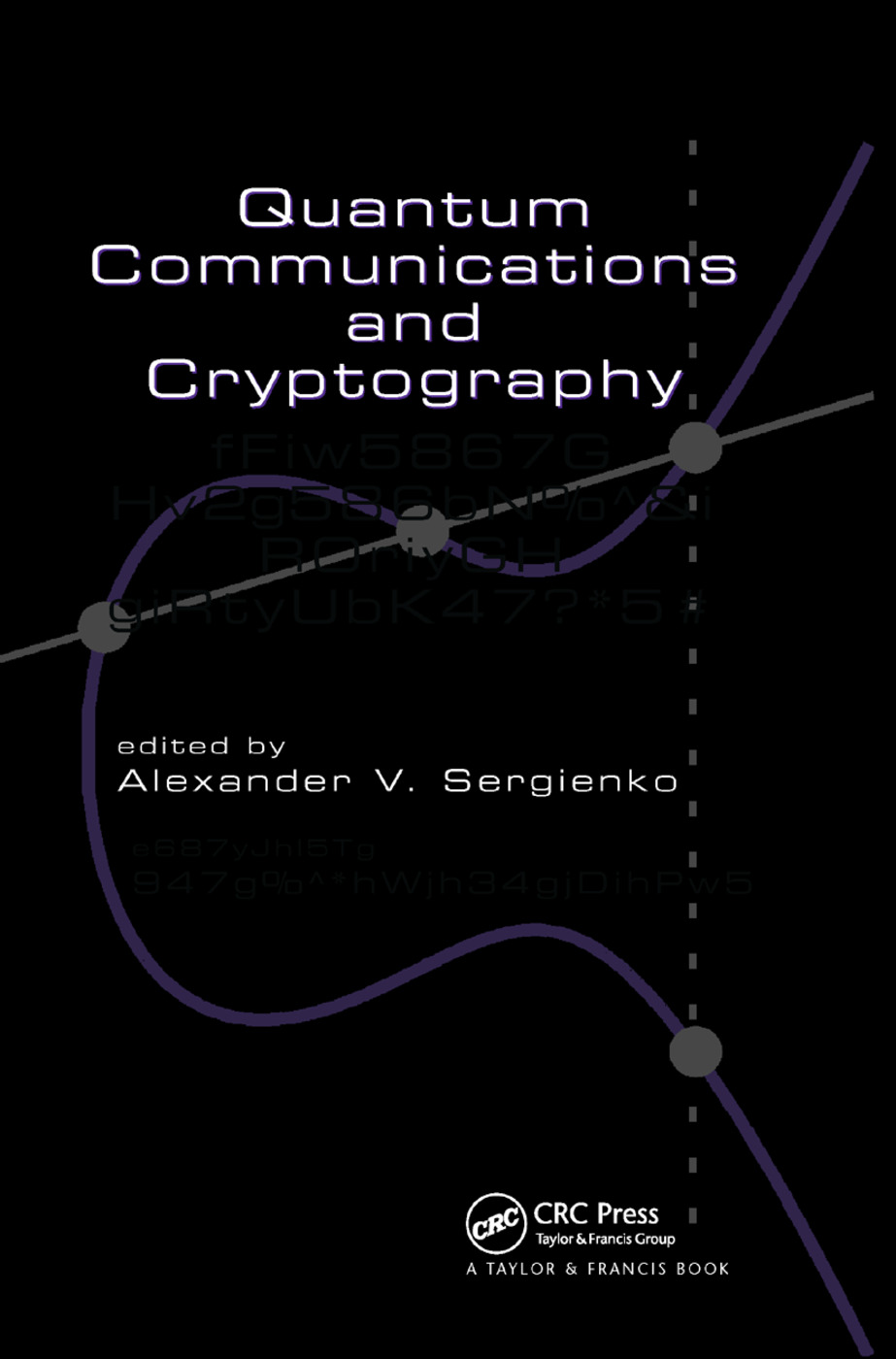 Quantum Communications and Cryptography: 1st Edition (Paperback) book cover