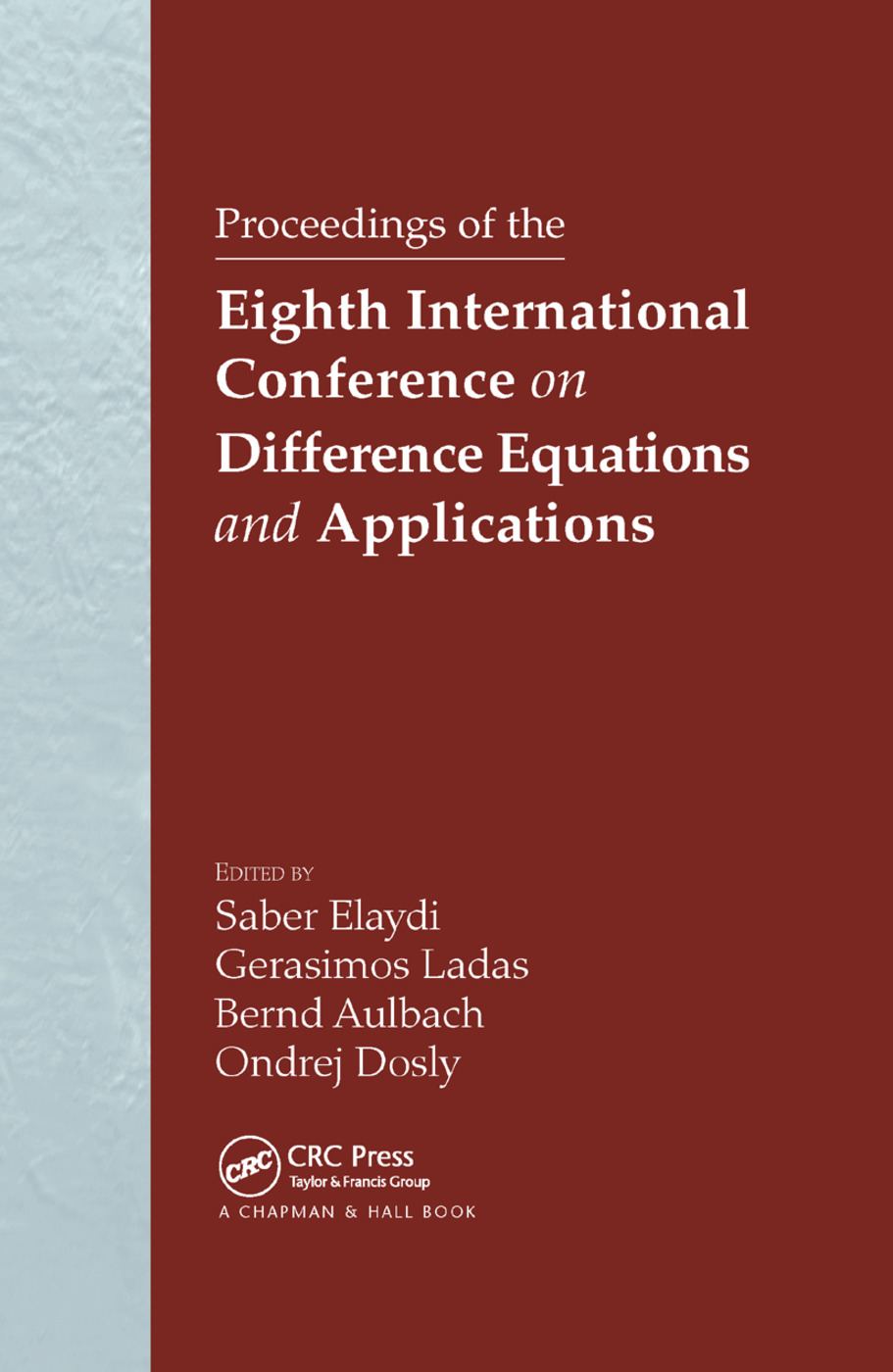 Proceedings of the Eighth International Conference on Difference Equations and Applications: 1st Edition (Paperback) book cover