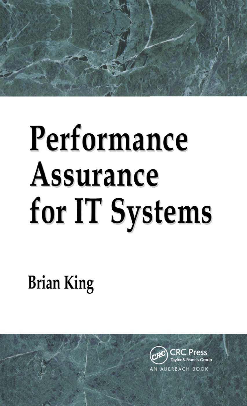 Performance Assurance for IT Systems: 1st Edition (Paperback) book cover