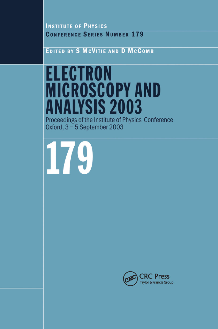 Electron Microscopy and Analysis 2003