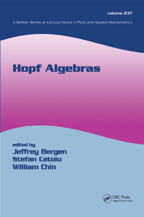 Hopf Algebras: 1st Edition (Paperback) book cover