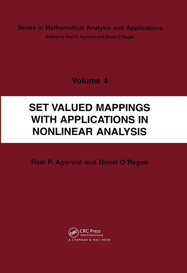 Set Valued Mappings with Applications in Nonlinear Analysis: 1st Edition (Paperback) book cover