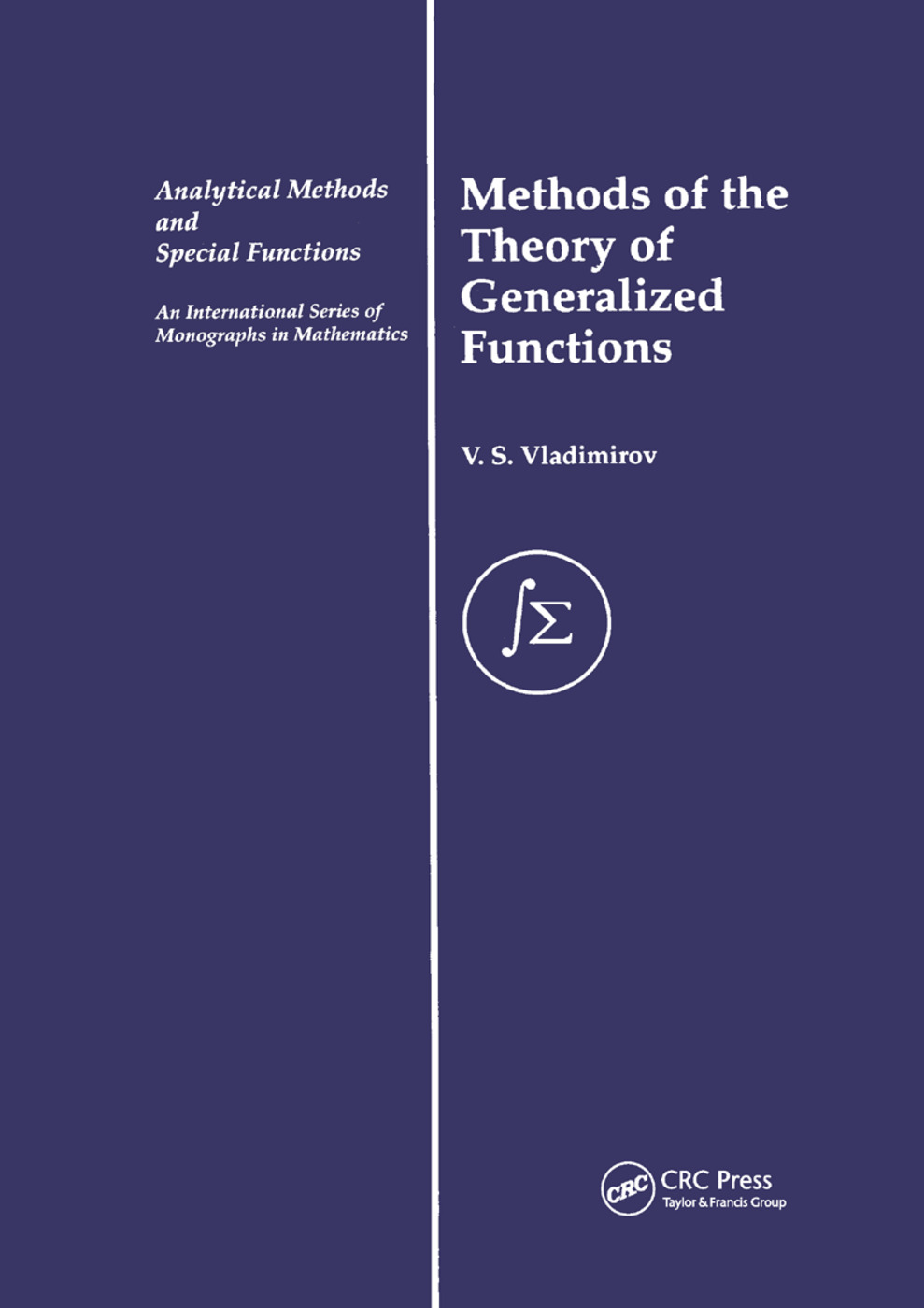 Methods of the Theory of Generalized Functions: 1st Edition (Paperback) book cover