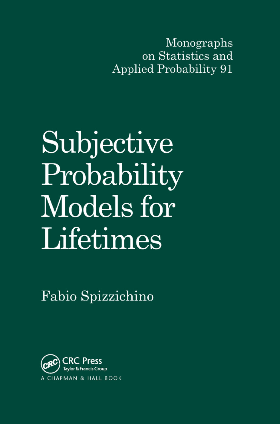Subjective Probability Models for Lifetimes: 1st Edition (Paperback) book cover