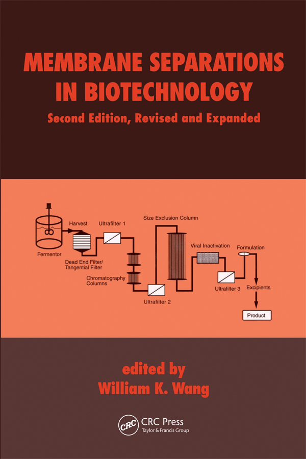 Membrane Separations in Biotechnology: 2nd Edition (Paperback) book cover