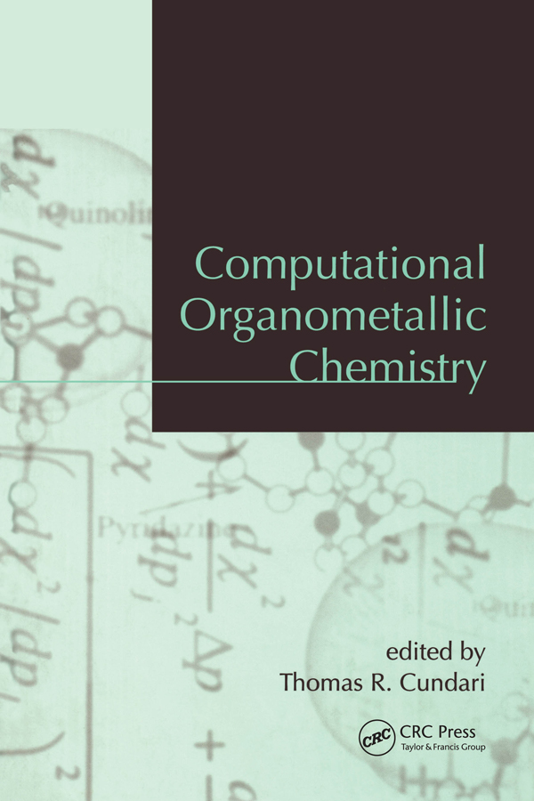 Computational Organometallic Chemistry: 1st Edition (Paperback) book cover