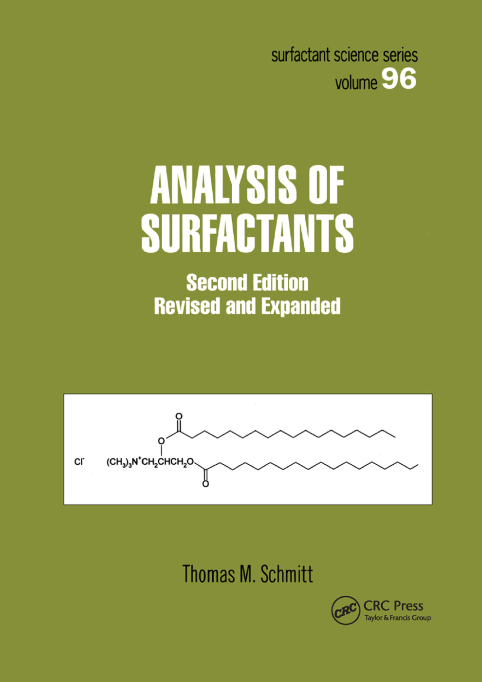 Analysis of Surfactants: 2nd Edition (Paperback) book cover
