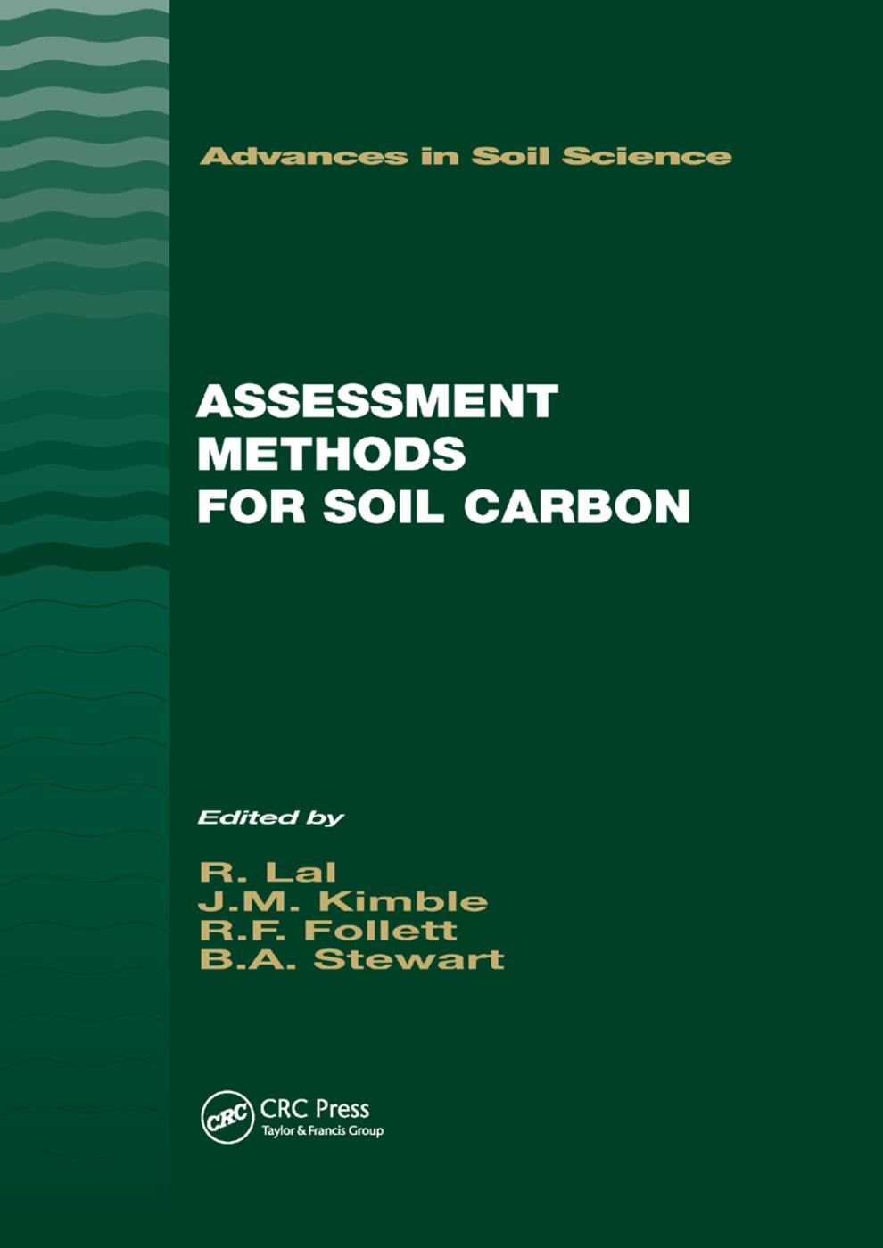Assessment Methods for Soil Carbon: 1st Edition (Paperback) book cover
