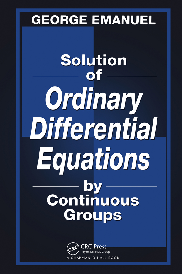 Solution of Ordinary Differential Equations by Continuous Groups: 1st Edition (Paperback) book cover