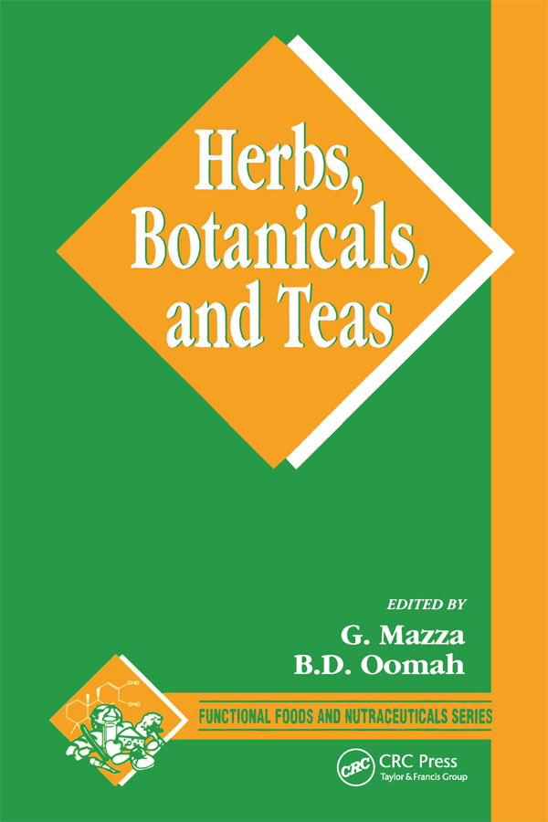 Herbs, Botanicals and Teas: 1st Edition (Paperback) book cover
