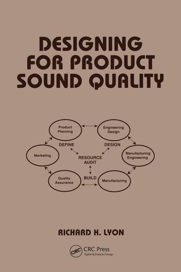 Designing for Product Sound Quality: 1st Edition (Paperback) book cover