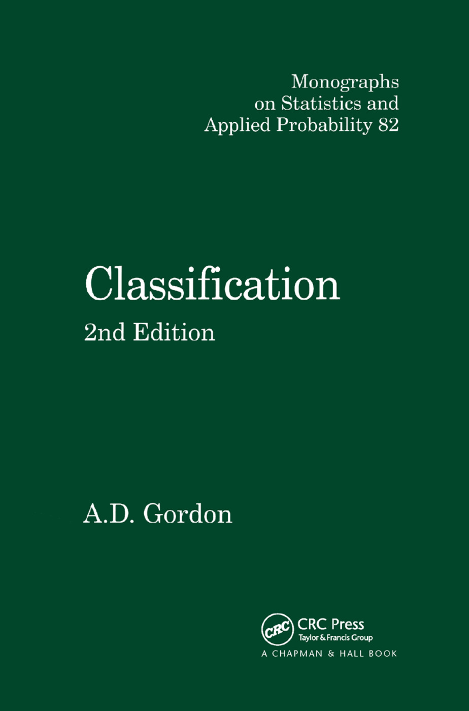 Classification: 2nd Edition (Paperback) book cover