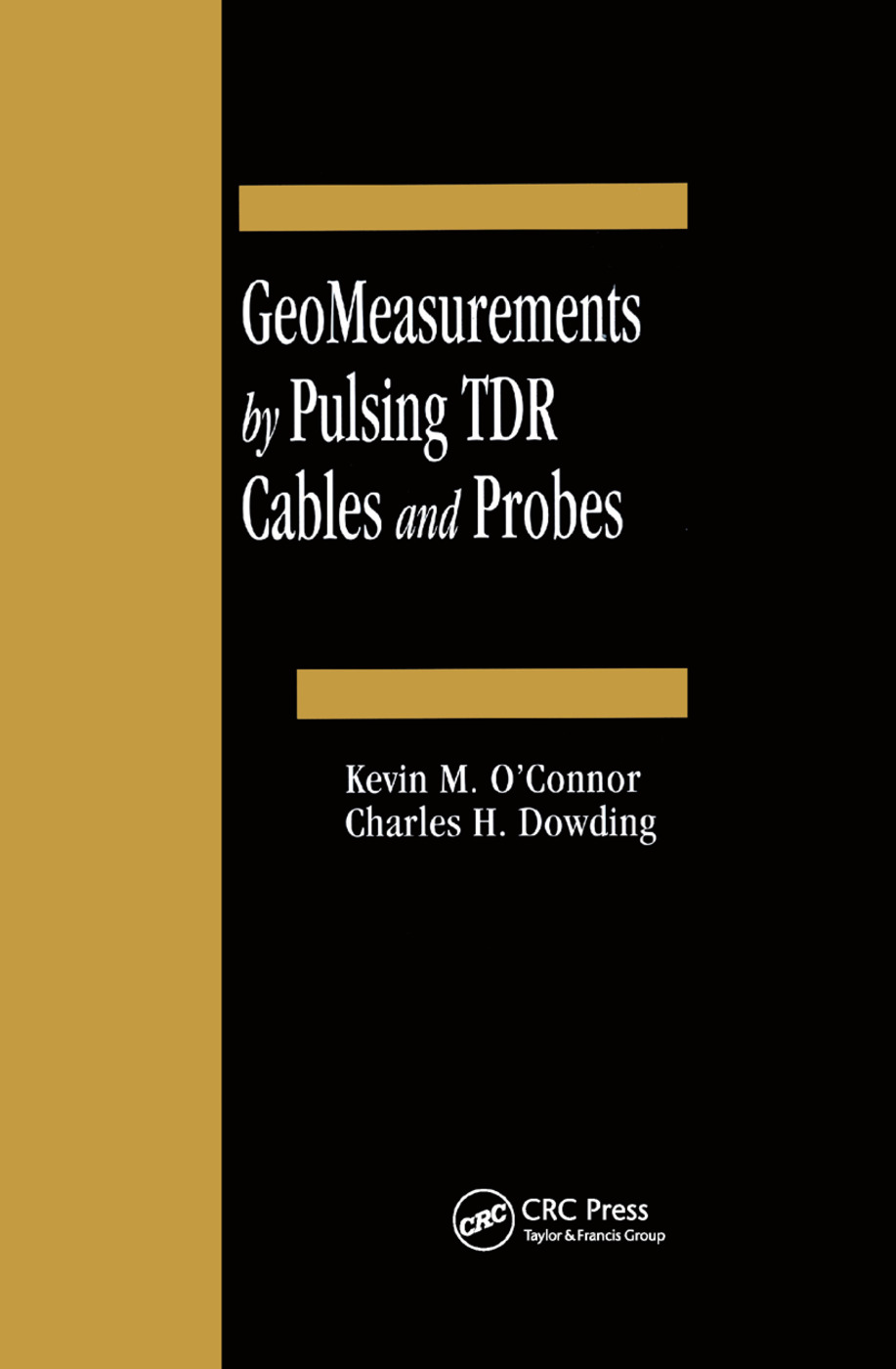 GeoMeasurements by Pulsing TDR Cables and Probes: 1st Edition (Paperback) book cover
