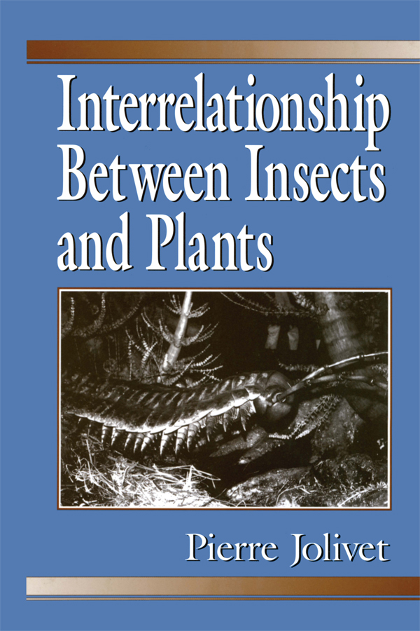Interrelationship Between Insects and Plants: 1st Edition (Paperback) book cover