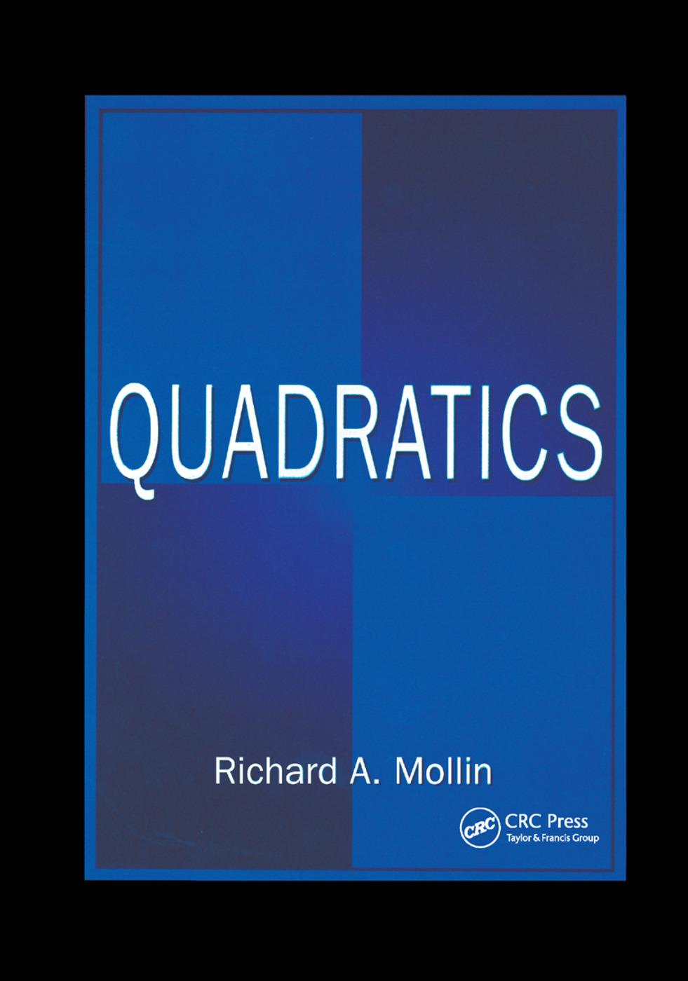 Quadratics: 1st Edition (Paperback) book cover