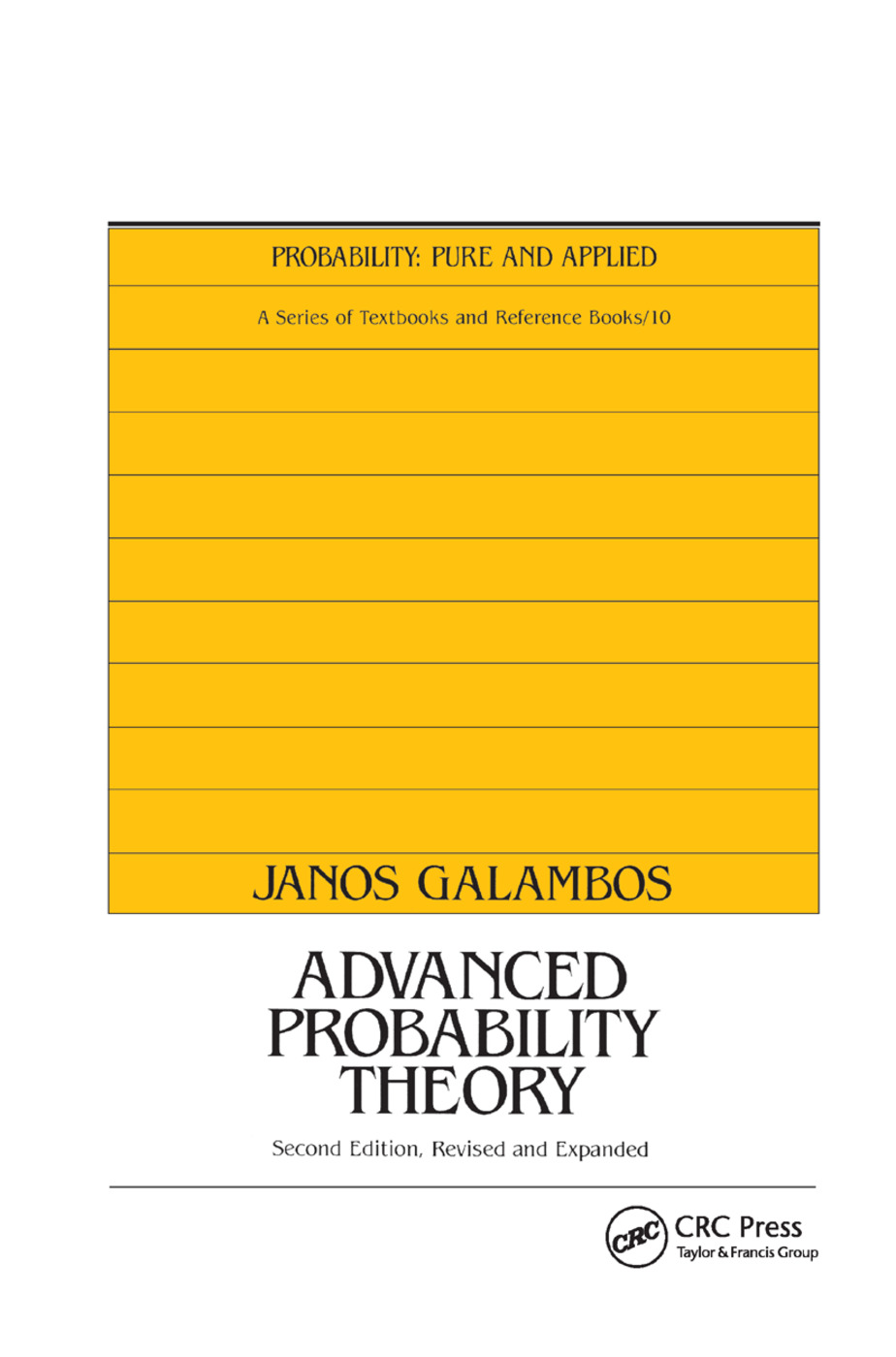 Advanced Probability Theory, Second Edition,: 2nd Edition (Paperback) book cover