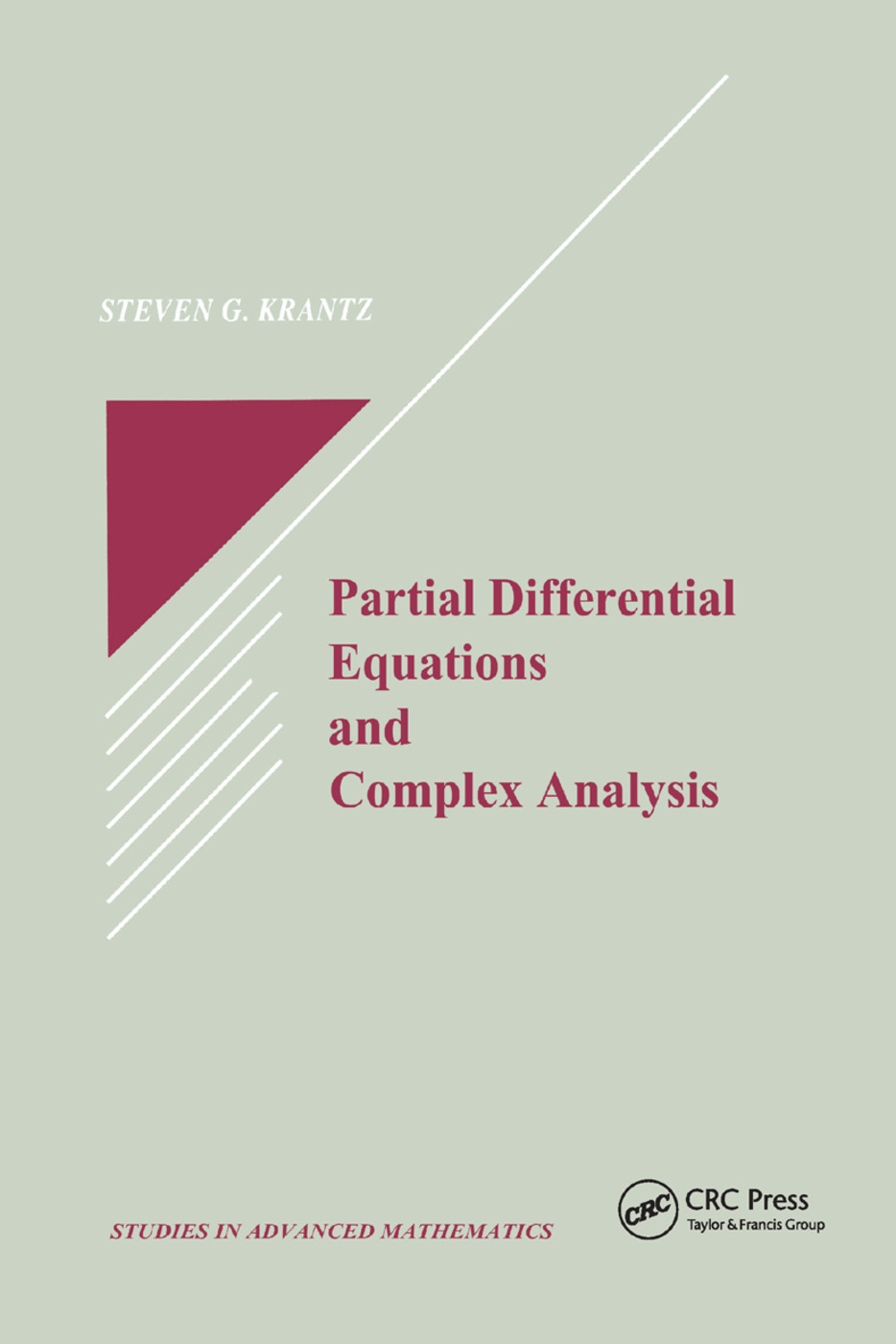 Partial Differential Equations and Complex Analysis: 1st Edition (Paperback) book cover