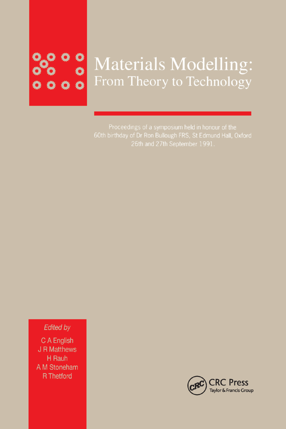 Materials Modelling: From Theory to Technology, 1st Edition (Paperback) book cover