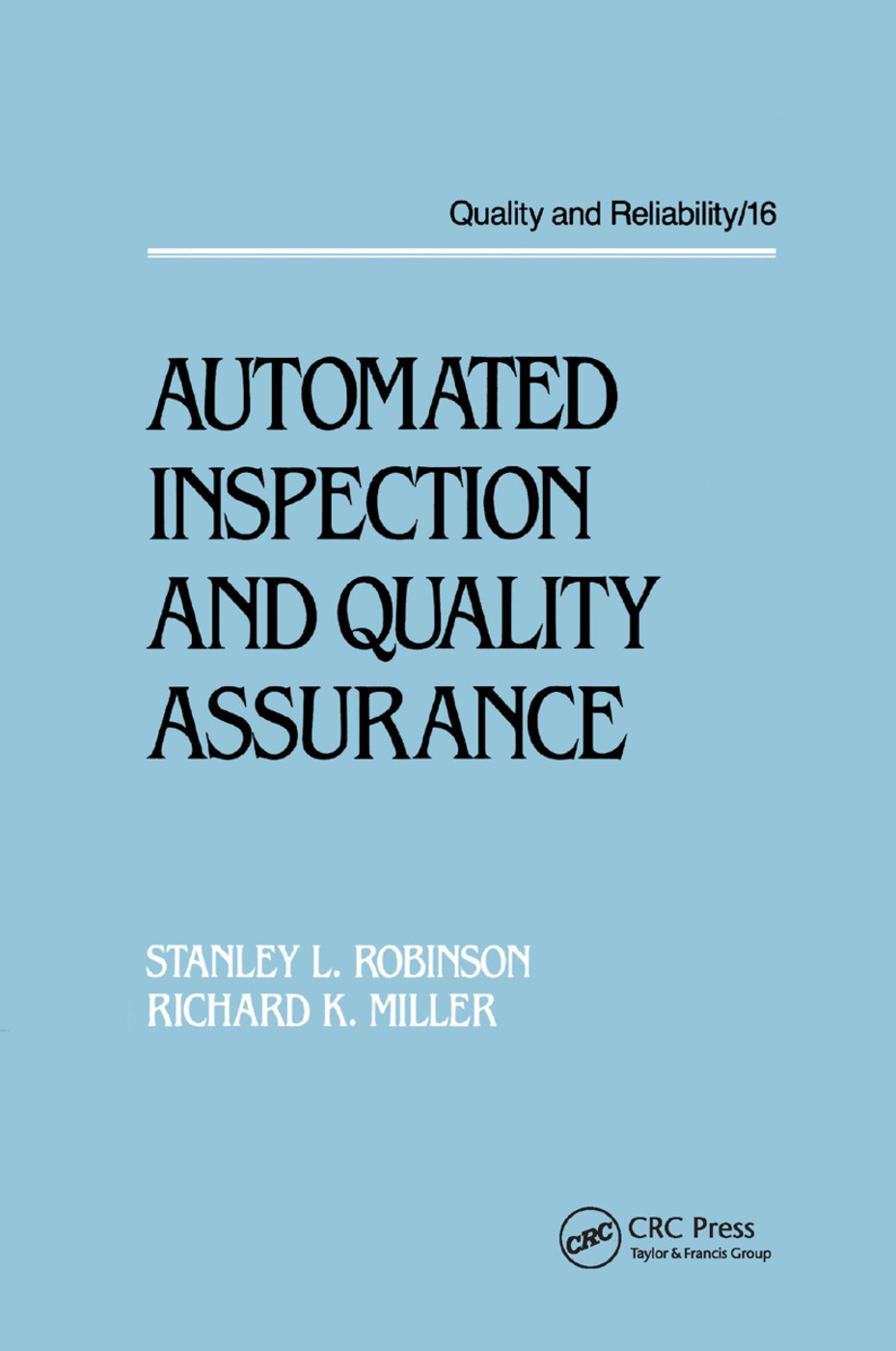 Automated Inspection and Quality Assurance: 1st Edition (Paperback) book cover