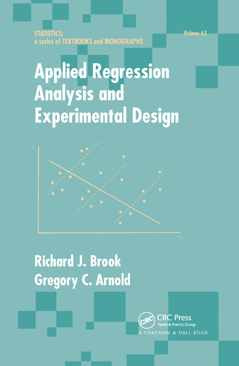 Applied Regression Analysis and Experimental Design book cover