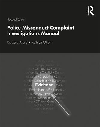 Police Misconduct Complaint Investigations Manual book cover
