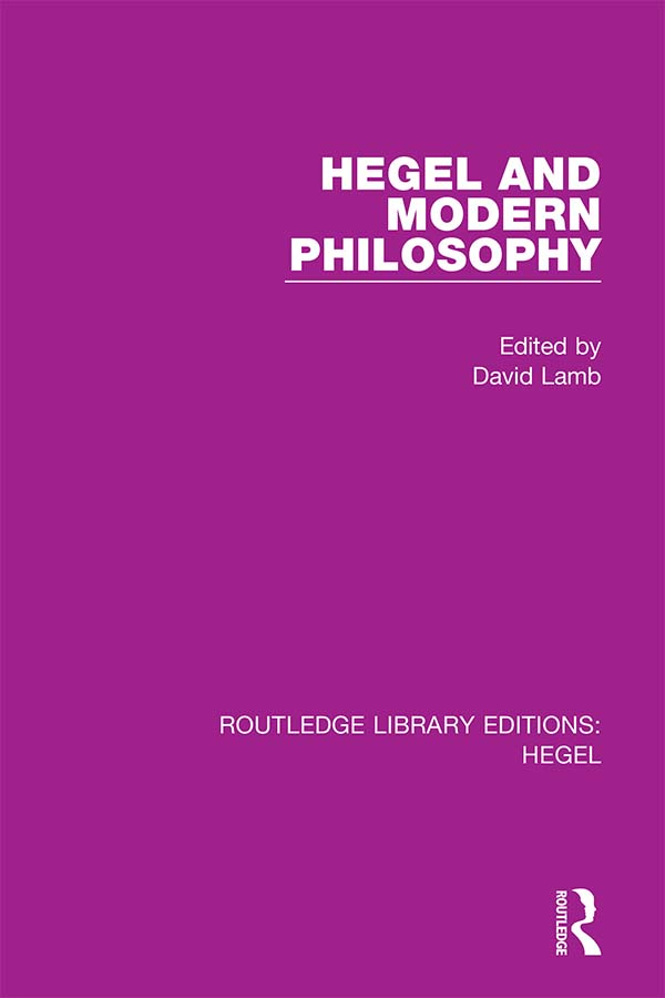 Hegel and Modern Philosophy book cover