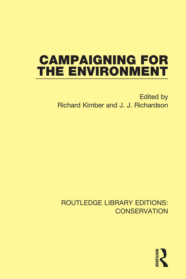 Campaigning for the Environment: 1st Edition (e-Book) book cover