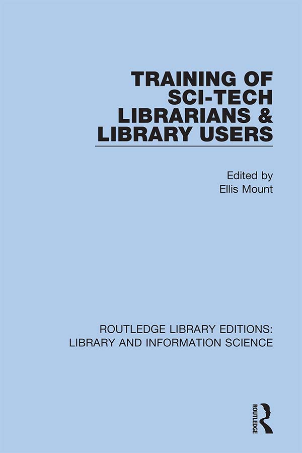 Training of Sci-Tech Librarians & Library Users book cover
