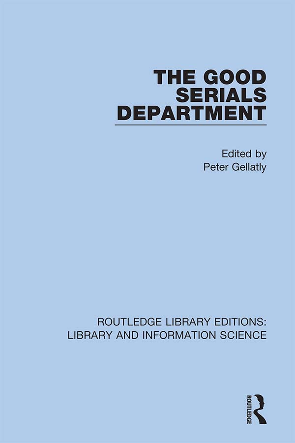 The Good Serials Department: 1st Edition (Hardback) book cover