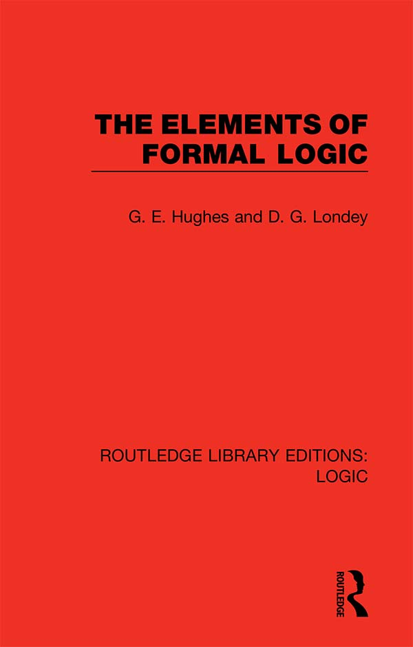 The Elements of Formal Logic book cover