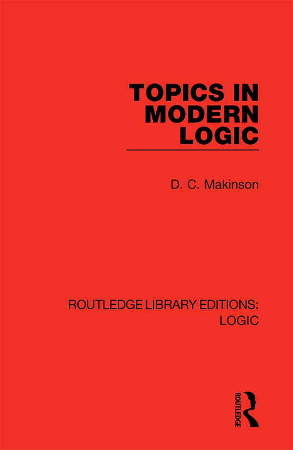 Topics in Modern Logic book cover