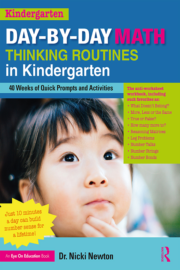 Day-by-Day Math Thinking Routines in Kindergarten: 40 Weeks of Quick Prompts and Activities book cover