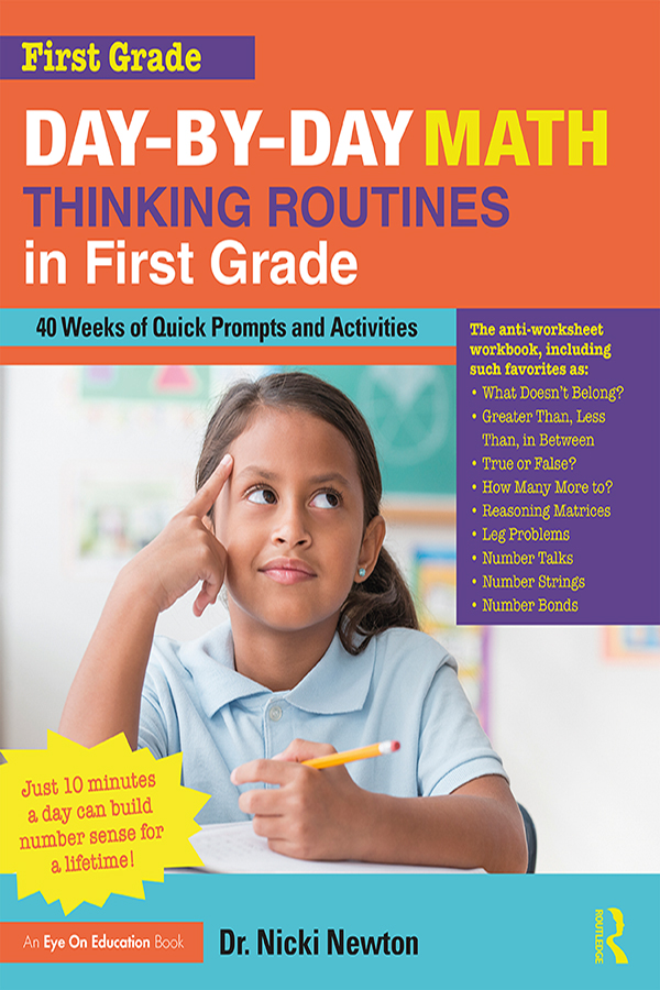Day-by-Day Math Thinking Routines in First Grade: 40 Weeks of Quick Prompts and Activities book cover
