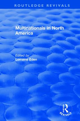 Multinationals in North America: 1st Edition (Hardback) book cover