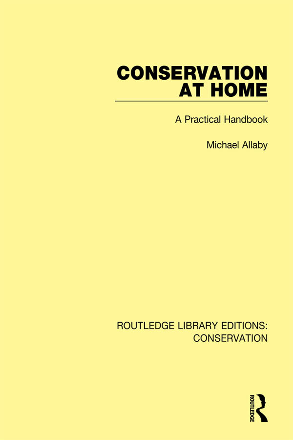 Conservation at Home: A Practical Handbook book cover