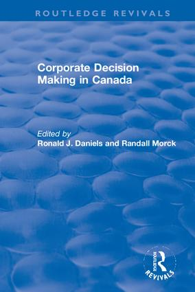 Corporate Decision Making in Canada: 1st Edition (Hardback) book cover