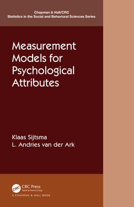 Measurement Models for Psychological Attributes: 1st Edition (Paperback) book cover