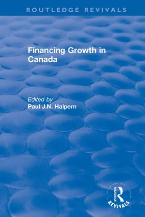 Financing Growth in Canada book cover