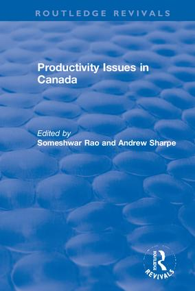 Productivity Issues in Canada: 1st Edition (Hardback) book cover