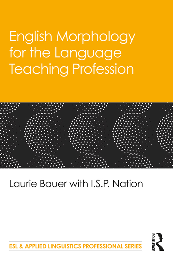 English Morphology for the Language Teaching Profession book cover