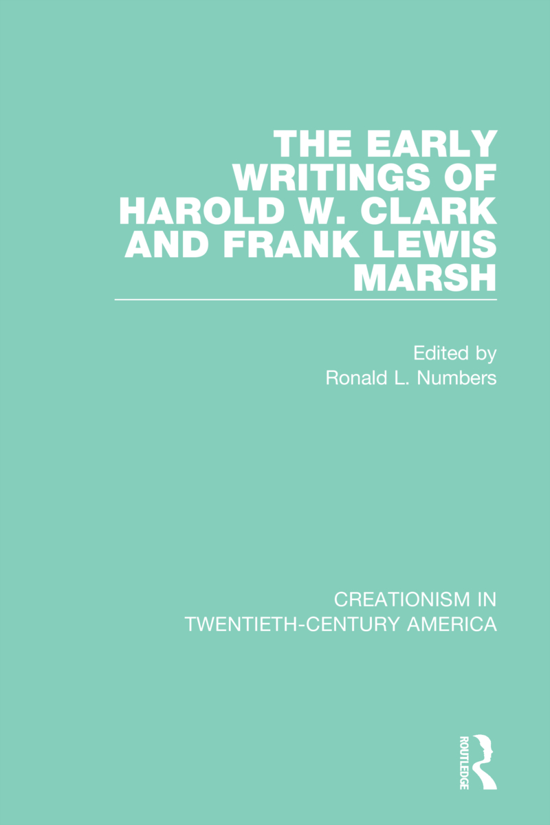 The Early Writings of Harold W. Clark and Frank Lewis Marsh: 1st Edition (Hardback) book cover