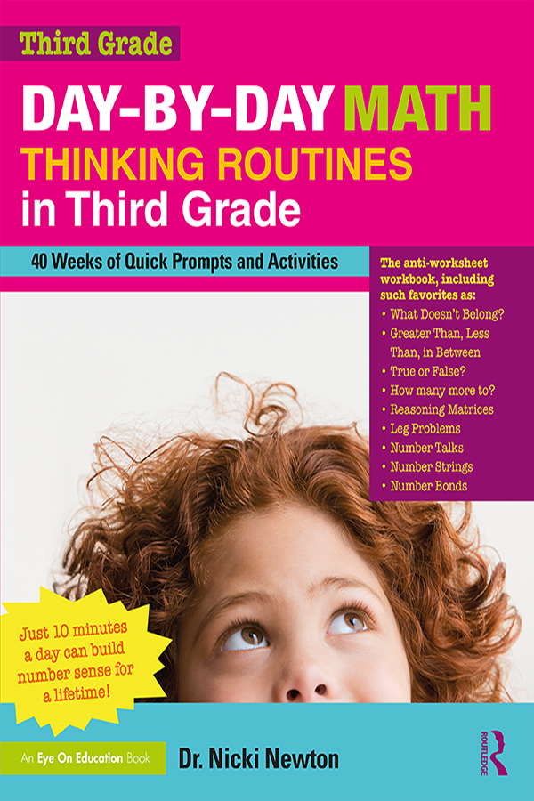 Day-by-Day Math Thinking Routines in Third Grade: 40 Weeks of Quick Prompts and Activities book cover